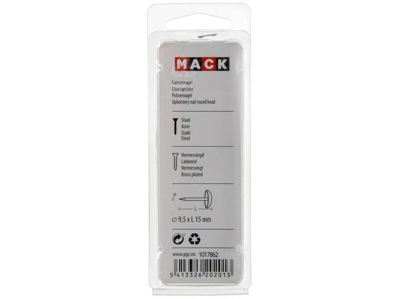 Mack clous tapissier 9,5x15 mm laiton 40 pièces