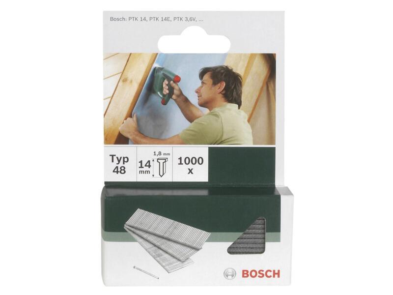 Bosch clous type 48 14mm 1000 pièces