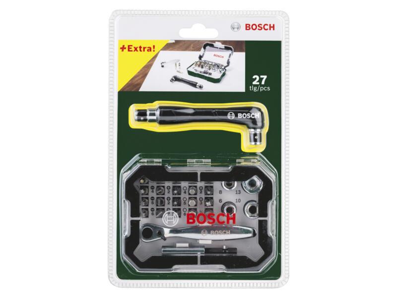 Bosch coffret d'embouts + clé à cliquet 26 pièces