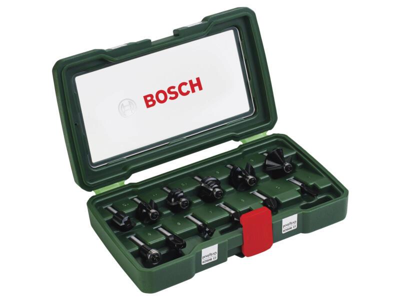 Bosch coffret de fraises à bois HM 12 pièces