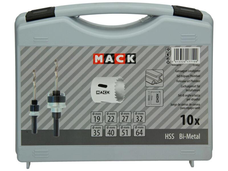 Mack coffret de scies-cloches BIM 19-64 mm set de 10