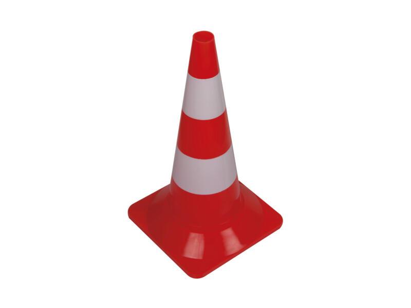 cône de délimitation rouge/blanc 50cm