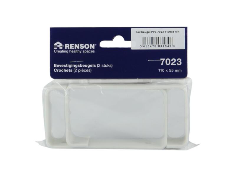 Renson crochets de fixation type 7023 110x55 mm blanc