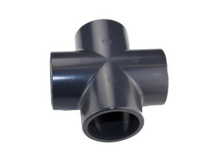Astore croix FFFF 40mm PVC noir