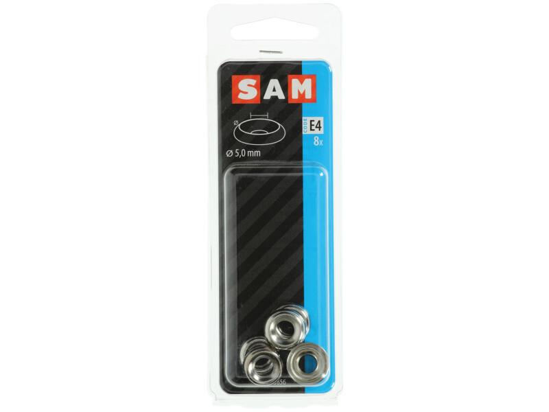 Sam cuvettes pour vis à bois 5mm nickelé 8 pièces