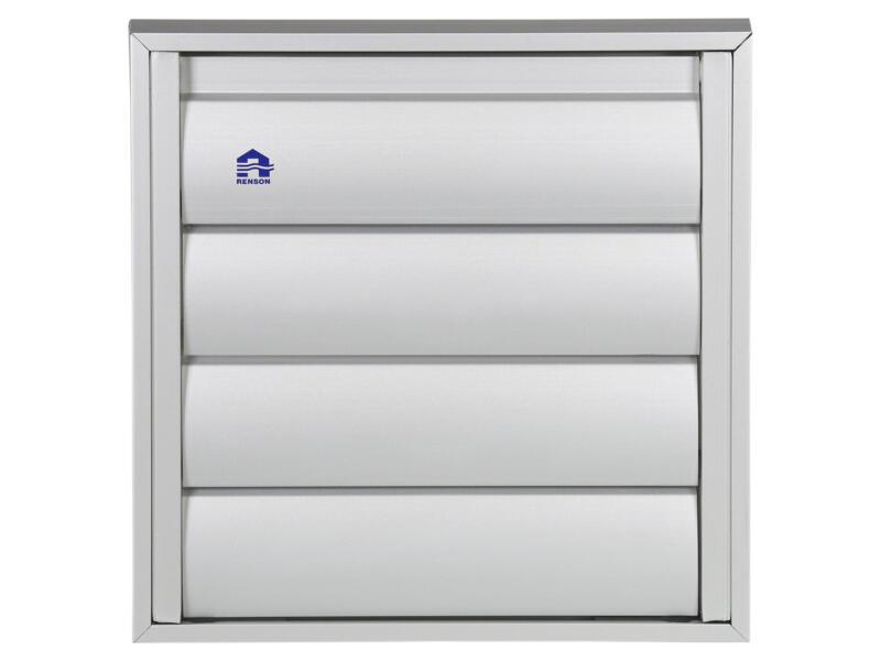 dampkaprooster 173x173 mm aluminium grijs
