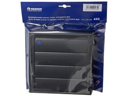 Renson dampkaprooster 173x173 mm aluminium zwart