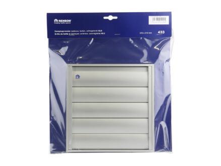 Renson dampkaprooster 210x210 mm aluminium grijs
