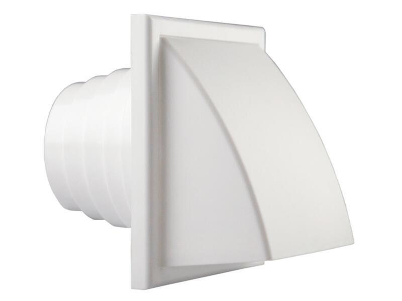 Renson dampkaprooster met klep 100mm PVC wit