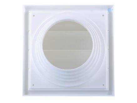 Renson dampkaprooster met reduceerstuk 100mm PVC wit