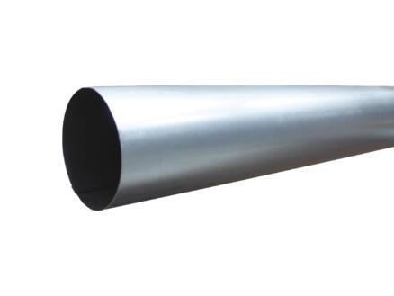 Scala descente d'eau pluviale 87mm 3m galvanisé gris