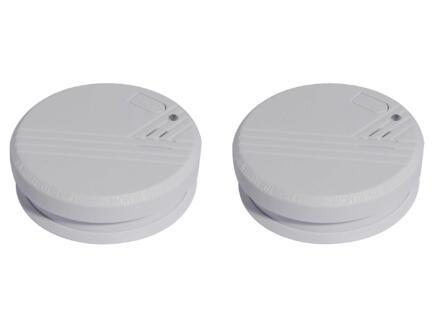 Chacon détecteur de fumée optique 9V pile alcaline 1 ans 2 pièces