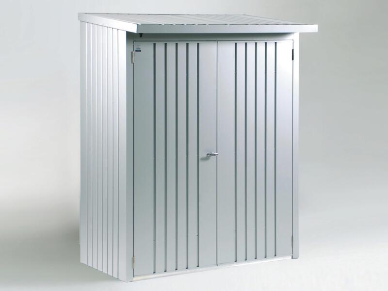 Biohort deurenpakket voor houtopslag Woodstock 150 zilver metallic