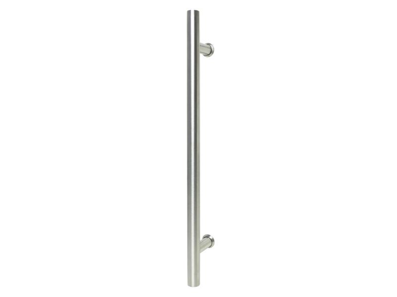Solid deurgreep recht 40cm voor glazen deur inox