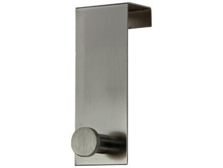 Sam deurkapstok 1 haak mat geborsteld staal