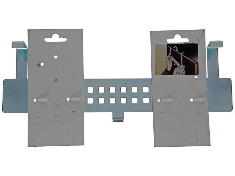 Sam deurkapstok 5 haken verchroomd staal