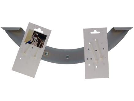 Sam deurkapstok 5 haken vernikkeld staal/inox