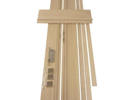 Solid deurkast MDF 202,2x40 cm eik