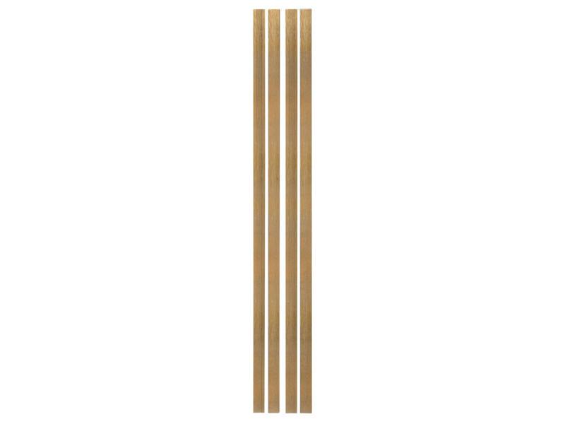 Solid deurlijst meranti 225x6,8 cm