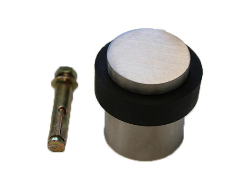 Solid deurstopper 3x7 cm inox