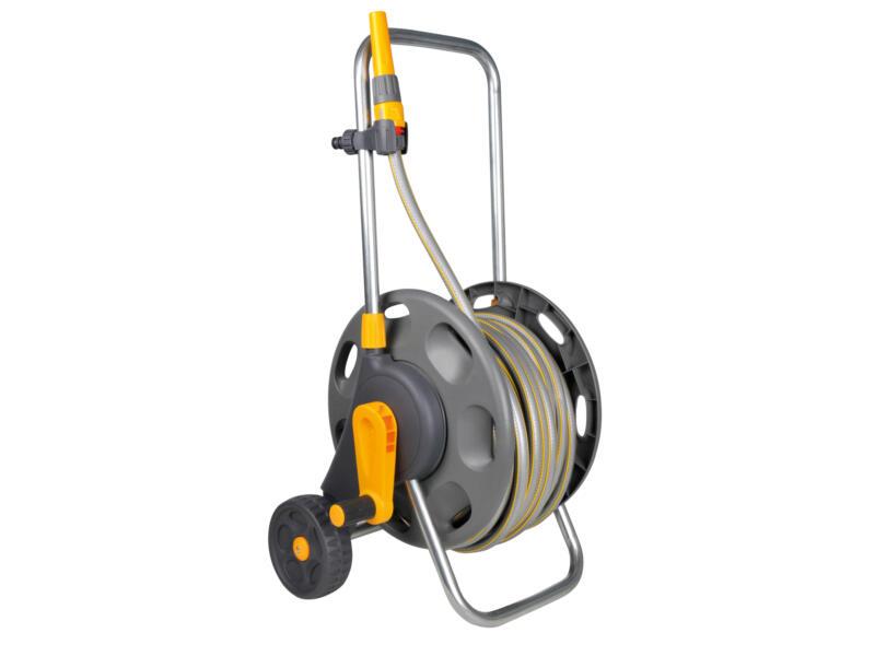 Hozelock dévidoir sur roues avec tuyau d'arrosage 50m