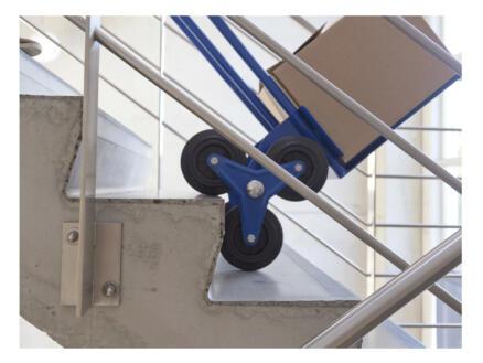 Toolland diable escalier 150kg 2x3 roues