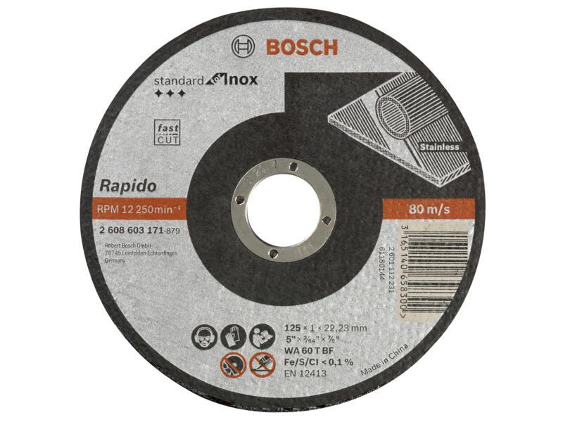 Bosch Professional disque à tronçonner inox 125x1x22,23 mm