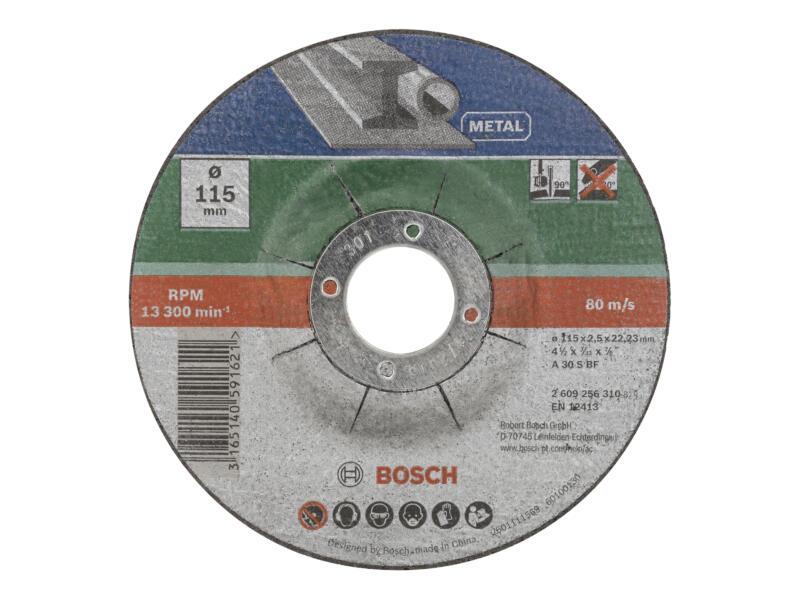 Bosch disque à tronçonner métal 115x2,5x22,23 mm bombé 5 pièces