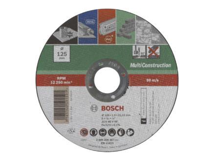 Bosch disque à tronçonner multifonction 115x1x22,23 mm plat
