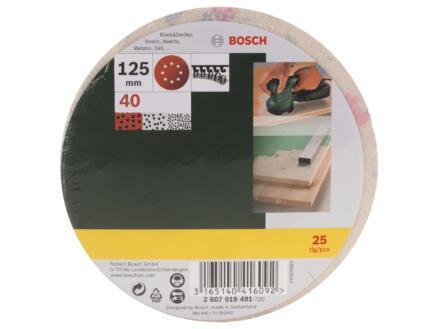 Bosch disque abrasif G40 125mm 25 pièces