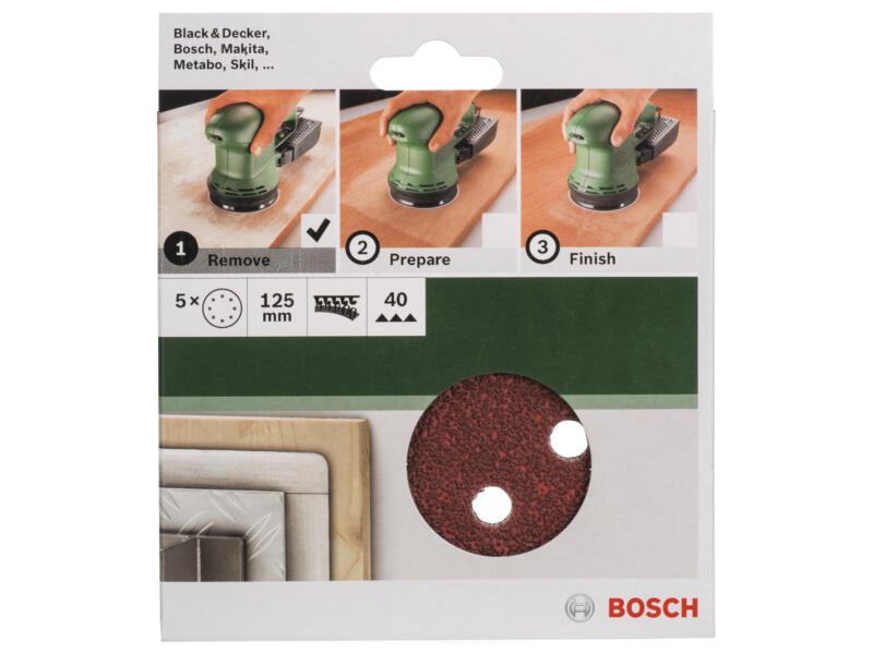 Bosch disque abrasif G40 125mm 5 pièces