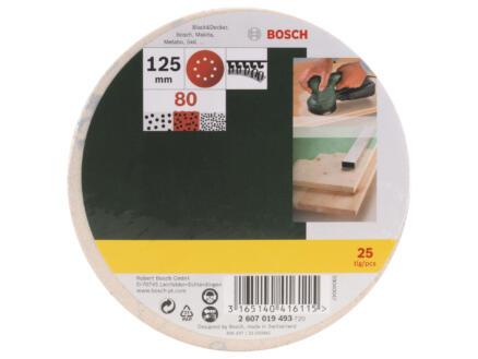 Bosch disque abrasif G80 125mm 25 pièces