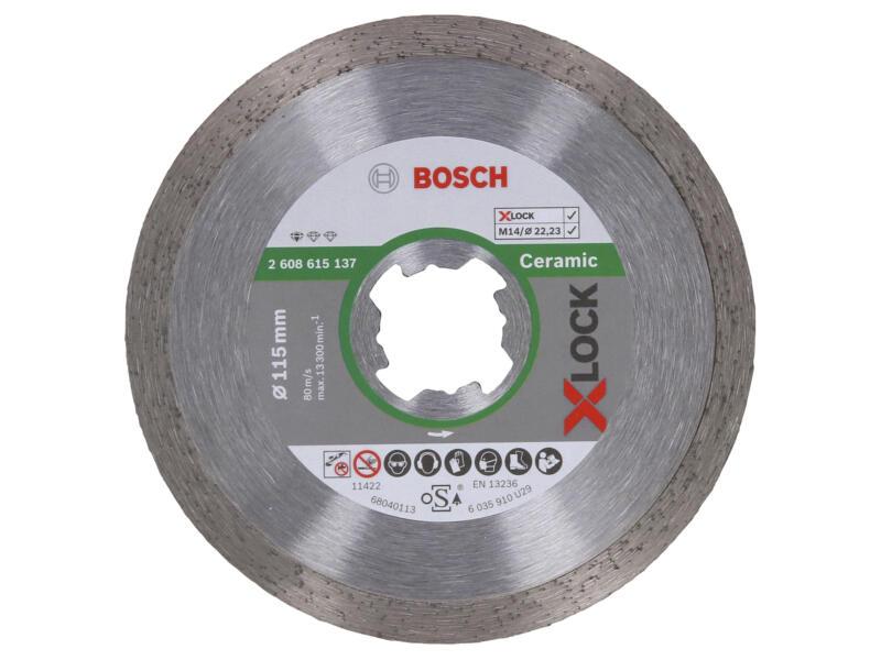 Bosch Professional disque diamant céramique X-lock 115x22,23x1,6 mm