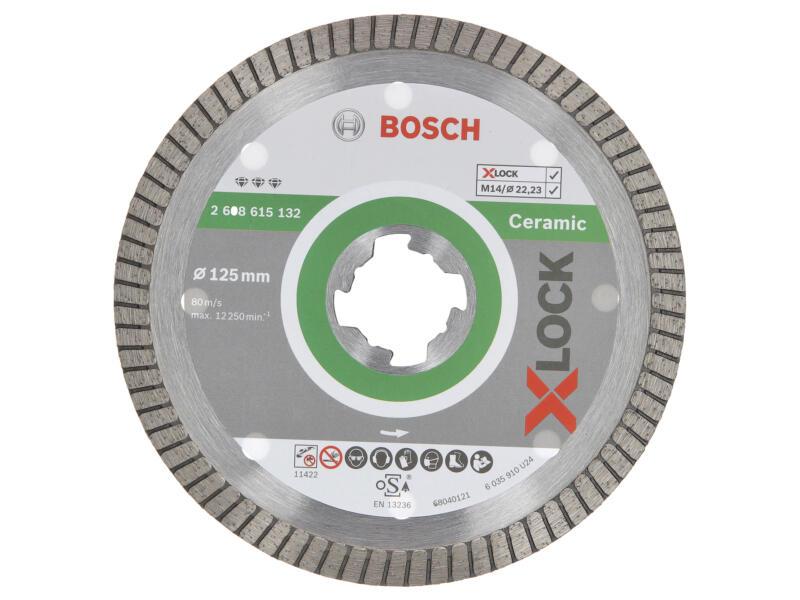 Bosch Professional disque diamant céramique X-lock 125x22,23x1,4 mm