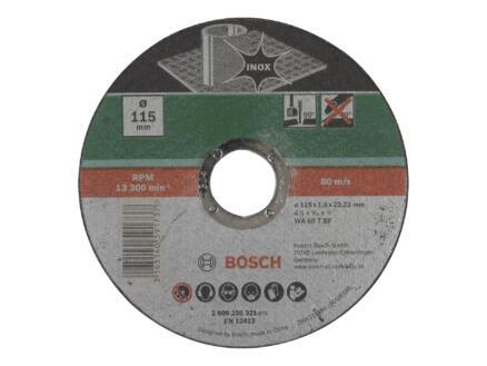 Bosch doorslijpschijf inox 115x1,6x22,23 mm recht