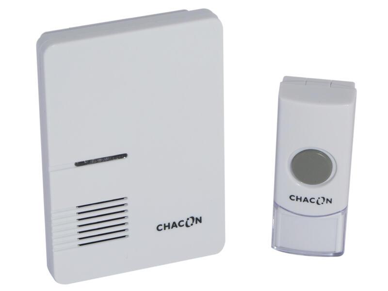 Chacon draadloze deurbel wit