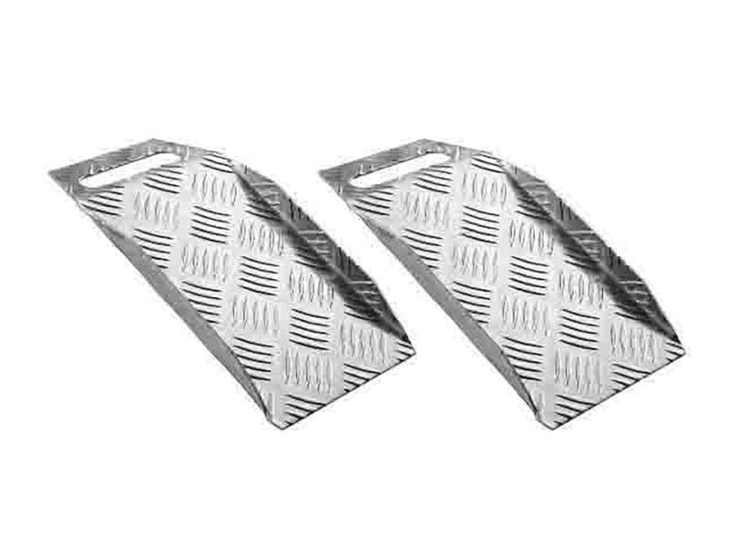 Secucare drempelhulp hoogte verstelbaar 0-100 mm draagbaar aluminium 2 stuks