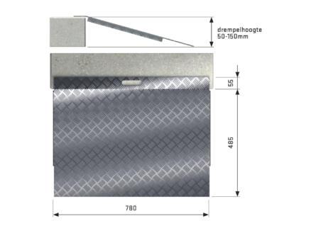 Secucare drempelhulp type 3 hoogte verstelbaar 50-150 mm 78x59,5 cm aluminium