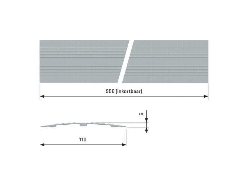 Secucare drempelvervanger 95x11 cm grijs