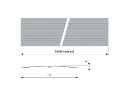 Secucare drempelvervanger 95x14 cm grijs