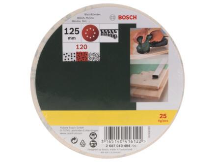 Bosch dsique abrasif G120 125mm 25 pièces