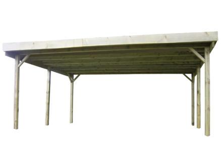 Gardenas dubbele carport 600x500 cm hout