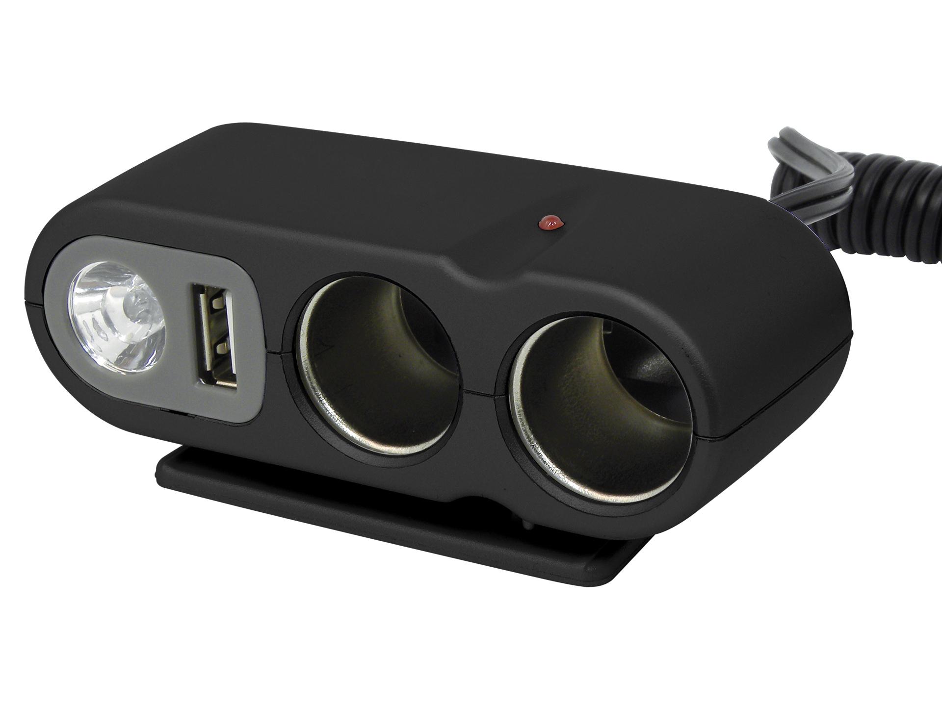 Bekend Carpoint dubbele stekkerdoos met USB 12V 5A | Hubo VZ07