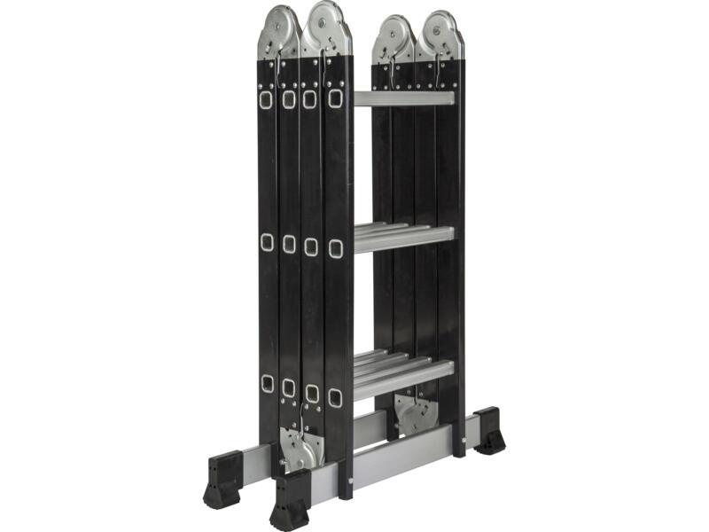 Escalo échelle pliante avec stabilisateur 4x3 échelons