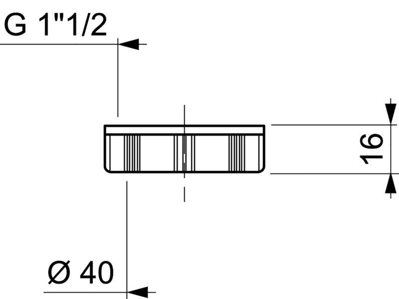 Wirquin écrou siphon 40mm