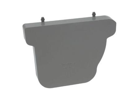 Scala eindstuk links voor dakgoot C140 PVC donkergrijs