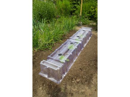 Nature eindstuk modulaire kweektunnel 22x21,5x40 cm + 3 grondpennen