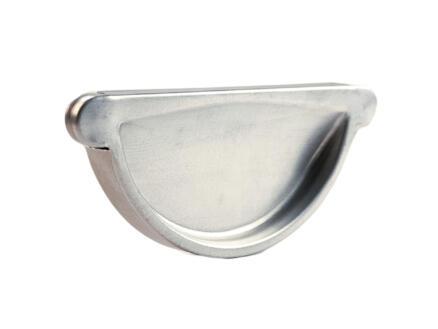 Scala eindstuk voor dakgoot G125 galva grijs