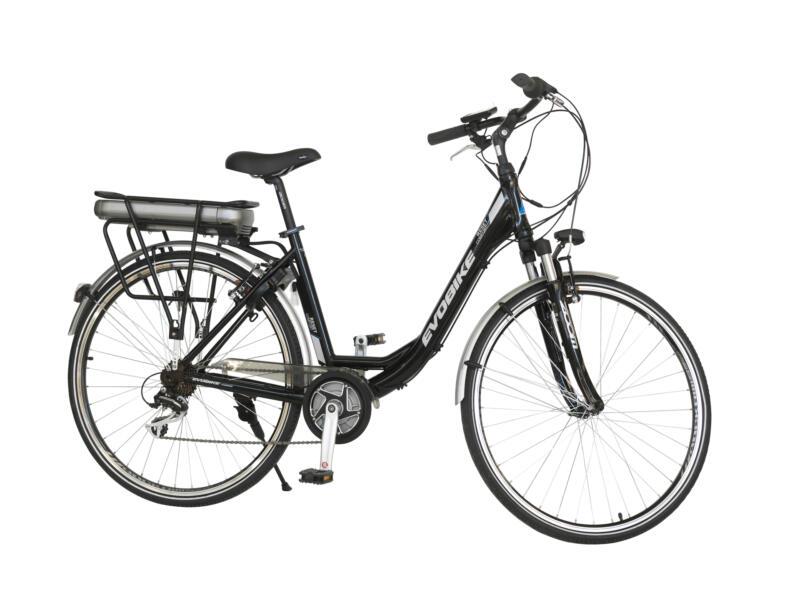 Evobike elektrische damesfiets middenmotor zwart