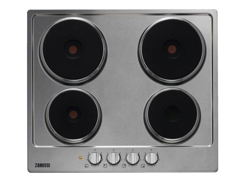 Zanussi elektrische kookplaat 60cm 4 zones inox